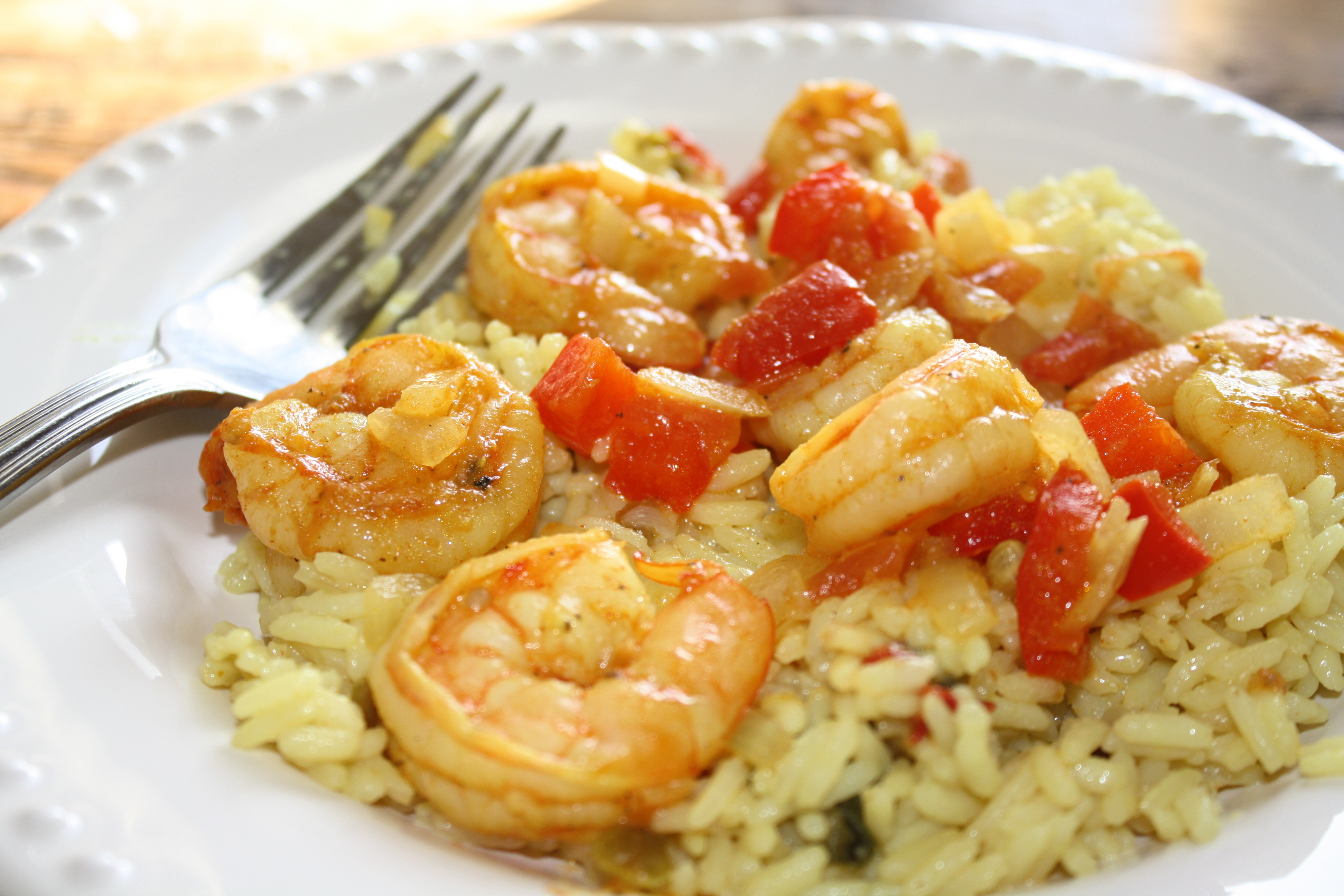Easy Shrimp Paella | Chew Love