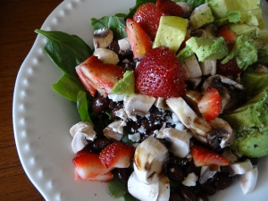Strawberry, Feta and Spinach Salad